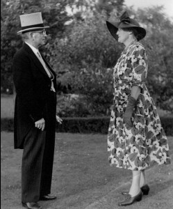 Albert James Taylor Day and Dorcas Day 6 July 1954 Prior to attending Buckingham Palace